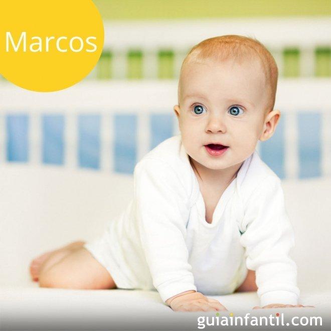 Los nombres de niños más populares. Marcos