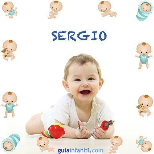 Los nombres de niños más populares. Sergio