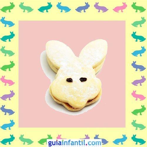 Galletas de Pascua decoradas. Galletas de conejos rellenas