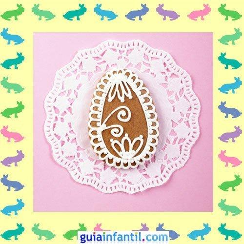 Galletas de Pascua decoradas. Huevos con azúcar