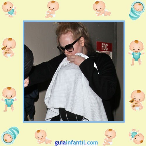 La diva Adele con su primer hijo Angelo