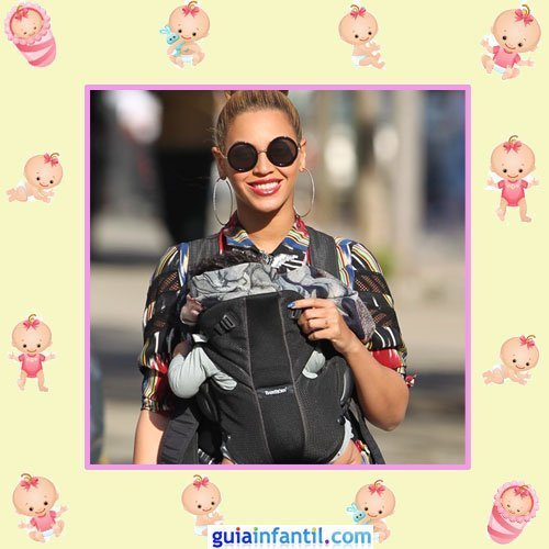 La cantante Beyonce con su hija Blue Ivy