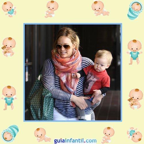 La actriz Disney Hilary Duff con su pequeño Luca