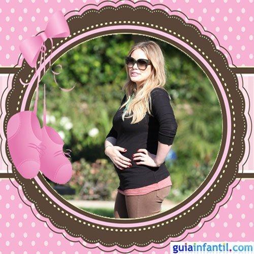 La joven actriz y cantante Hilary Duff embarazada