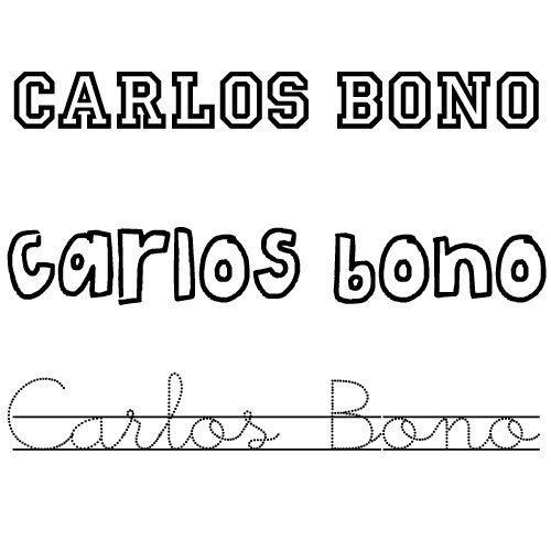 Carlos Bono. Nombres para niños