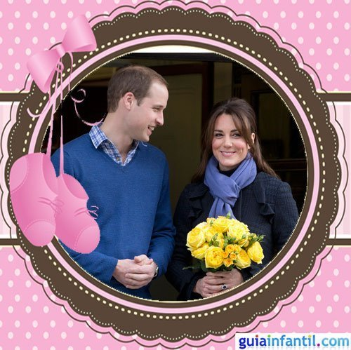 La princesa Kate Middleton embarazada y feliz