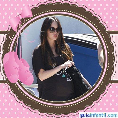 La guapa actriz Megan Fox embarazada