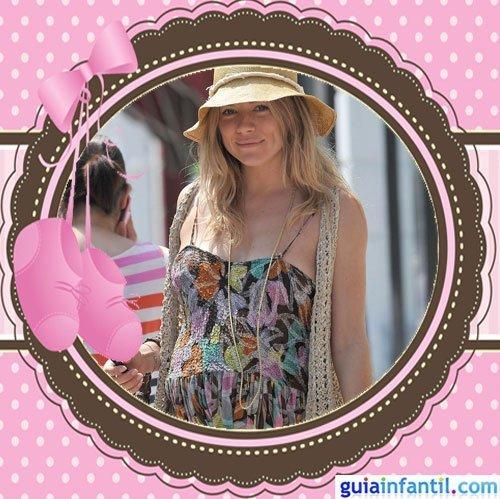 La actriz y diseñadora Sienna Miller embarazada