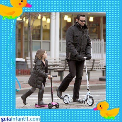 El guapo actor Hugh Jackman con su hija Ava Elliot