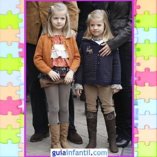 Las hijas de los Principes de Asturias con estilo otoñal clásico