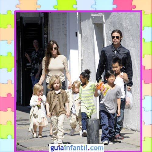 Los hijos de Brad Pitt y Angelina Jolie con un estilo sport