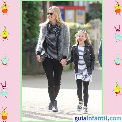 La modelo Kate Moss y su hija Lila Grace apuestan por el look rockero
