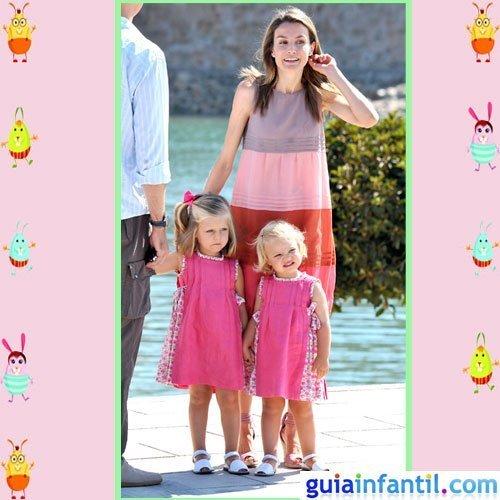La princesa Letizia comparte vestido de verano con Leonor y Sofía