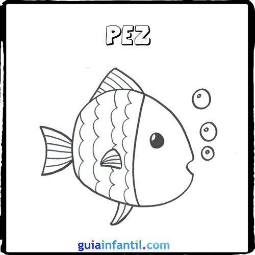 Dibujo de un pez para pintar con los niños