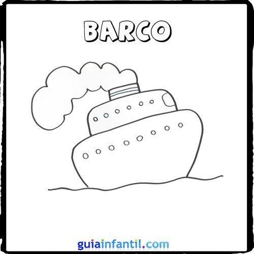 Dibujo de un barco para pintar con los nios  Dibujos de medios