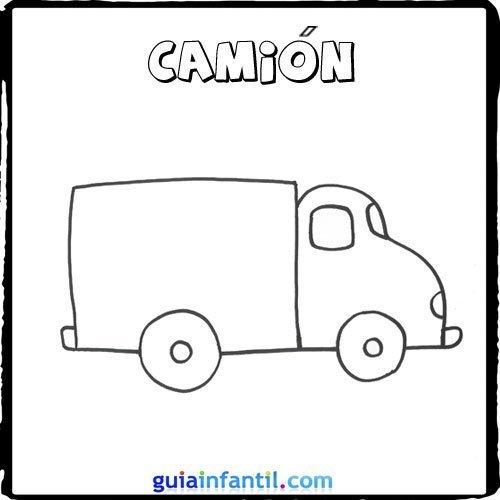 Dibujo de un camión para pintar con los niños
