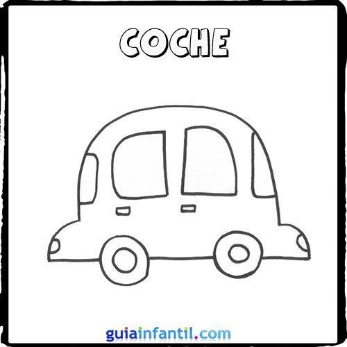 Dibujo de un coche para pintar con los niños