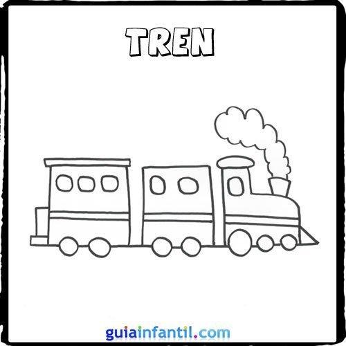 Dibujo de un tren para pintar con los niños