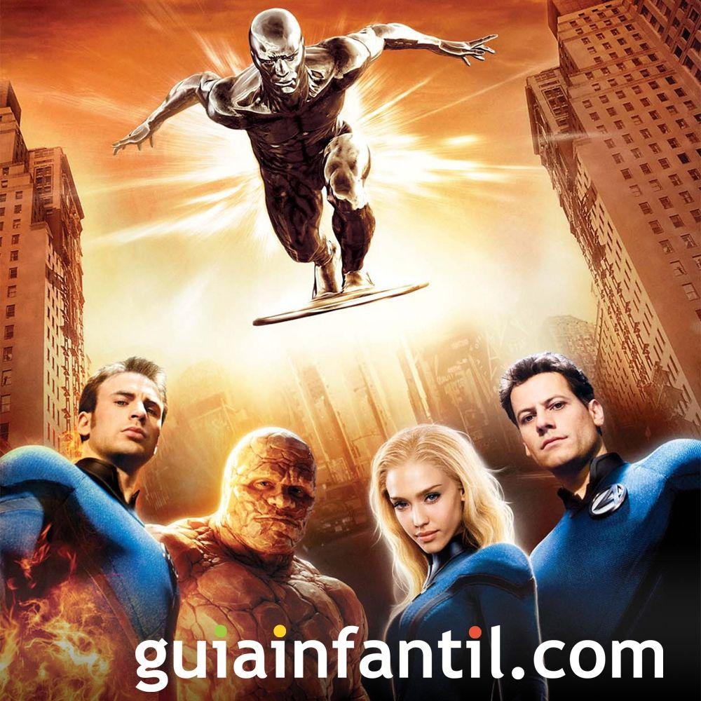 Los Cuatro Fantásticos. Películas para niños de superhéroes