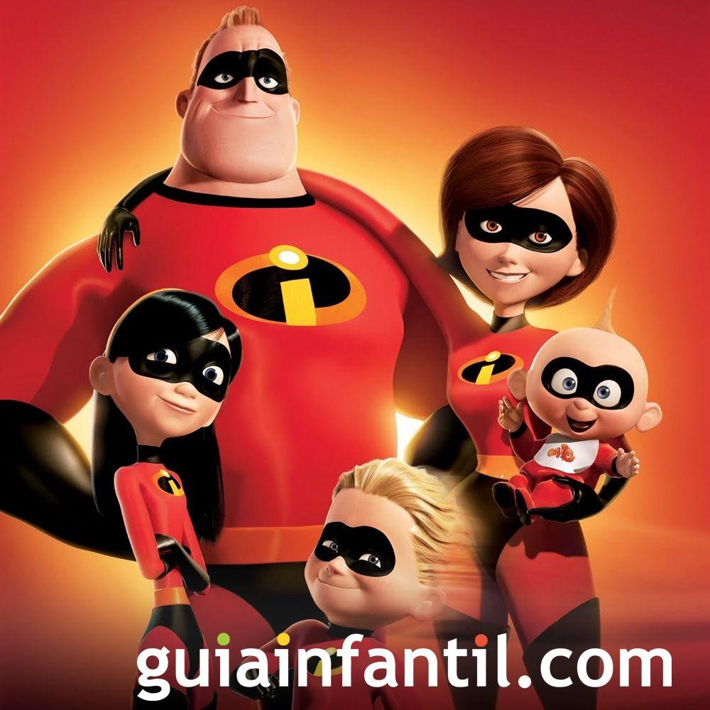 Película de superhéroes Los Increíbles para los niños