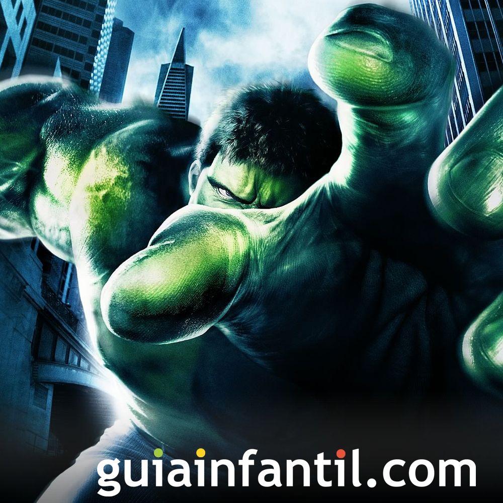 El Increíble Hulk. Películas de superhéroes para niños