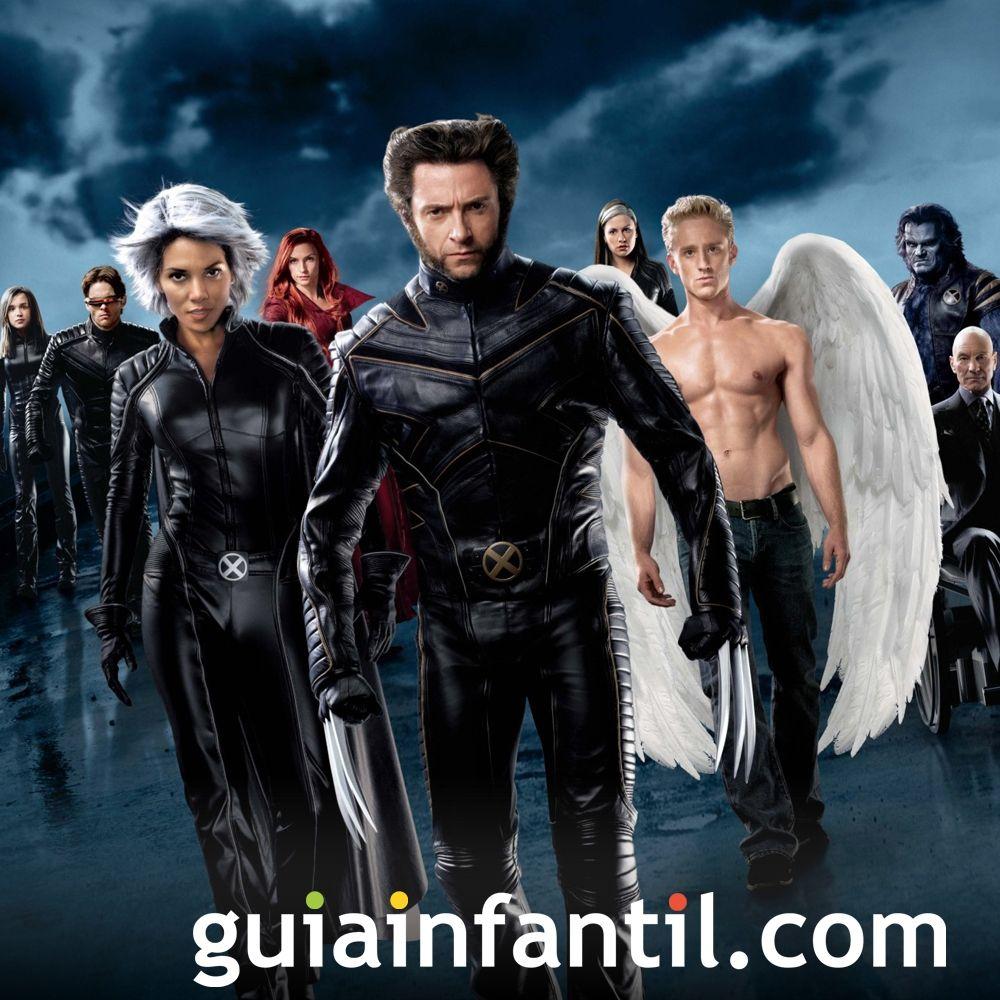 X-Men. Películas de superhéroes para los niños