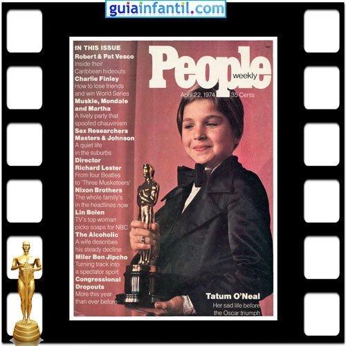 La actriz Tatum O Neal fue ganadora de un Premio Oscar por Paper moon