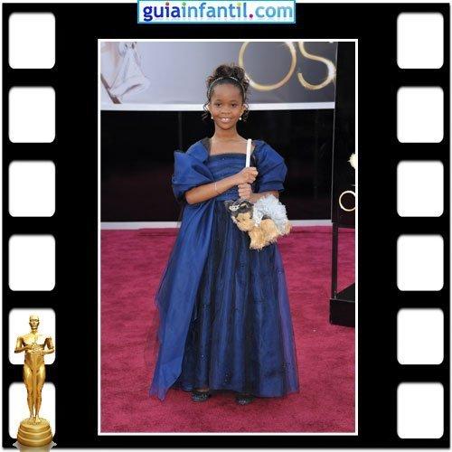 La actriz Quvenzhané Wallis nominada a los Premios Oscar por Bestias del Sur Salvaje