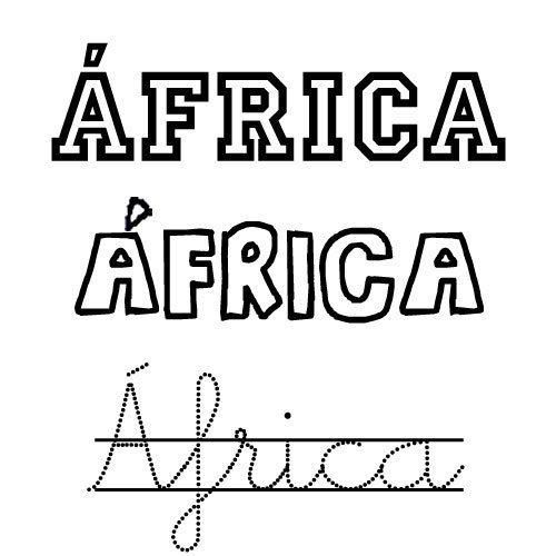 África. Nombres para niñas
