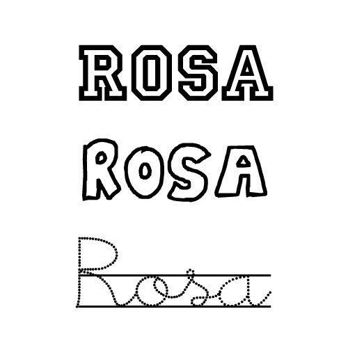 Rosa. Nombres para niñas