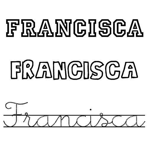 Francisca. Nombre para niñas