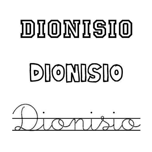 Dionisio. Nombres para niños