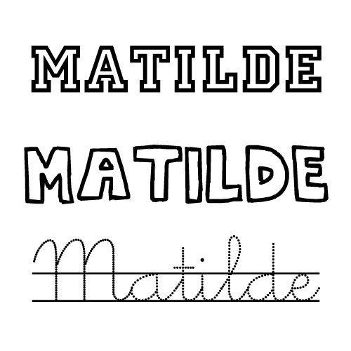 Matilde. Nombre para niñas