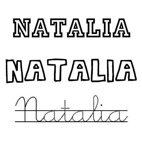 Dibujo del nombre natalia para colorear nombres de santo - Nombres de ninos para colorear ...