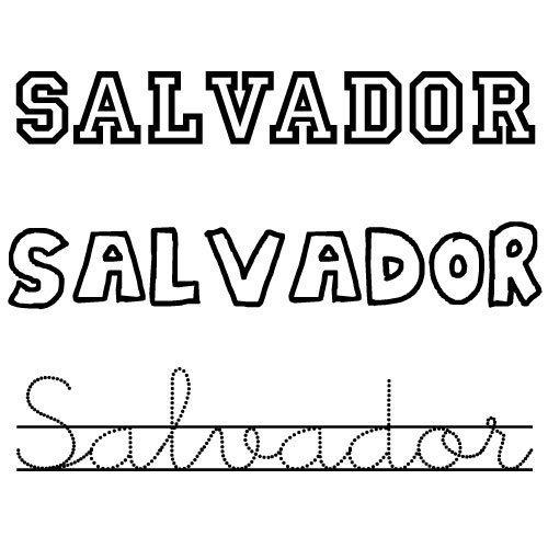 Salvador. Nombres para niños