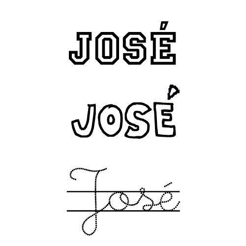 Dibujo del nombre José para colorear