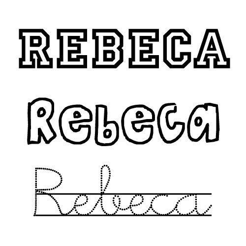 Rebeca. Nombres para niñas