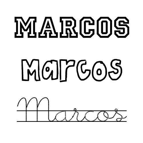 Dibujo del nombre Marcos para colorear