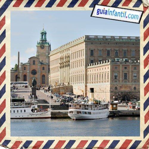 Palacio Real y Catedral. Viajar a Estocolmo con los niños
