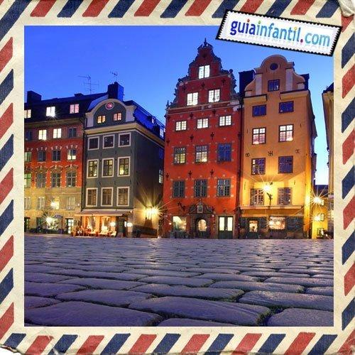 Plaza de Stortorget. Viajar a Estocolmo con los niños