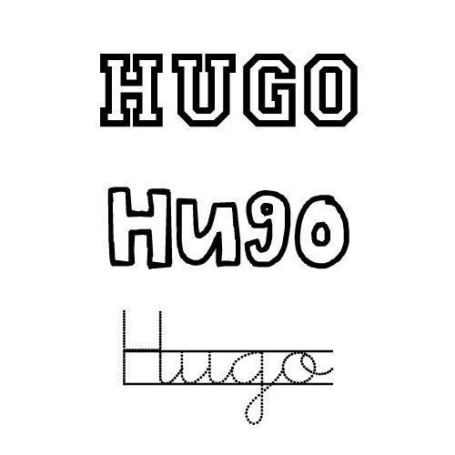 Dibujo del nombre Hugo para colorear