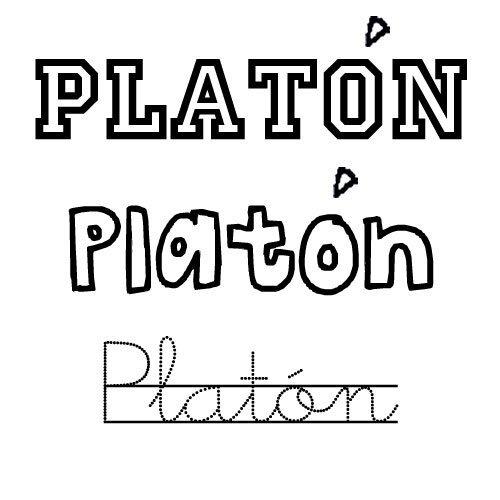 Dibujo del nombre Platón para imprimir y colorear