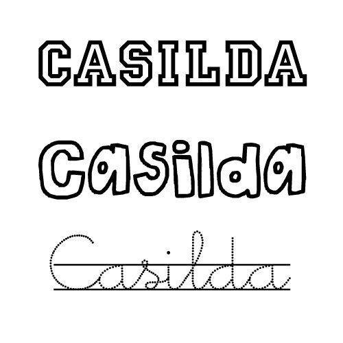 Dibujo del nombre Casilda para colorear