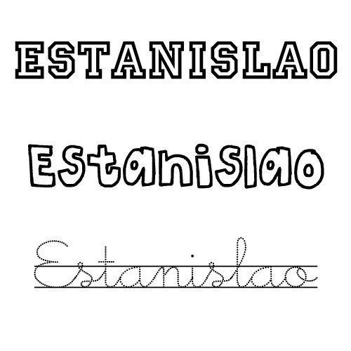 Dibujo del nombre Estanislao para colorear