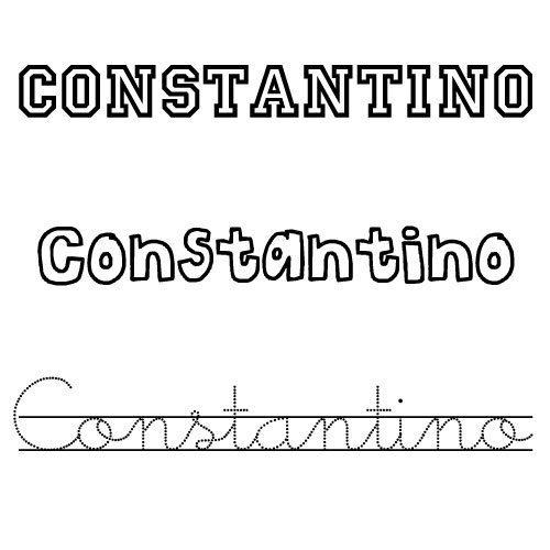 Dibujo del nombre Constantino para imprimir