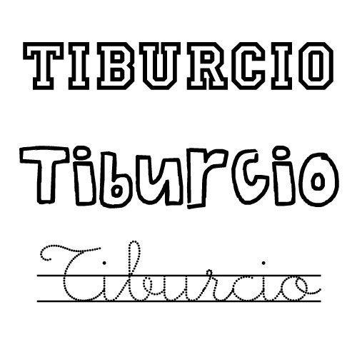 Dibujo del nombre Tiburcio para pintar