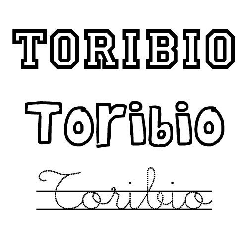 Dibujos para colorear del nombre Toribio