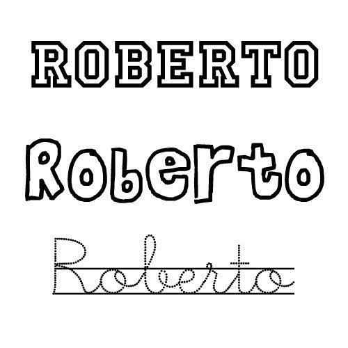 Dibujo para colorear del nombre para niños Roberto