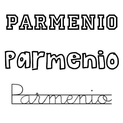 Dibujo del nombre Parmenio para imprimir y pintar