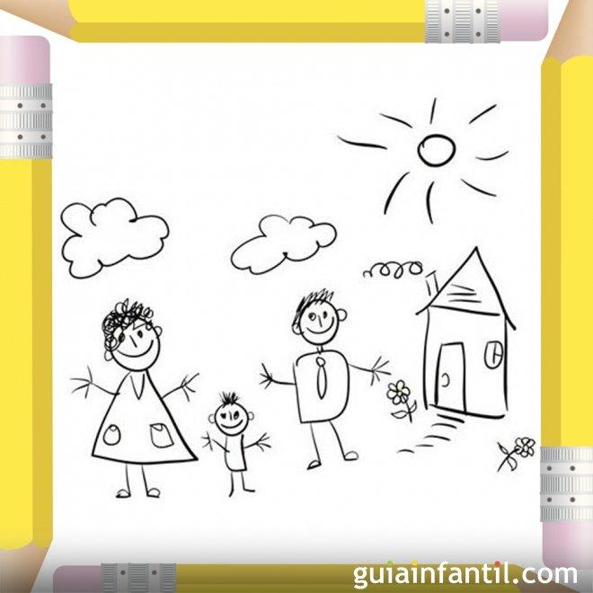 Familia En Su Casa Dibujos Para Colorear El Dia De La Madre
